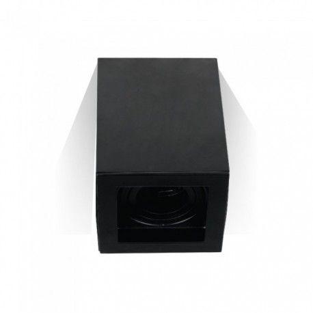 V-Tac takarmatur - Kvadrat, svart, IP20, GU10 sockel, utan ljuskälla