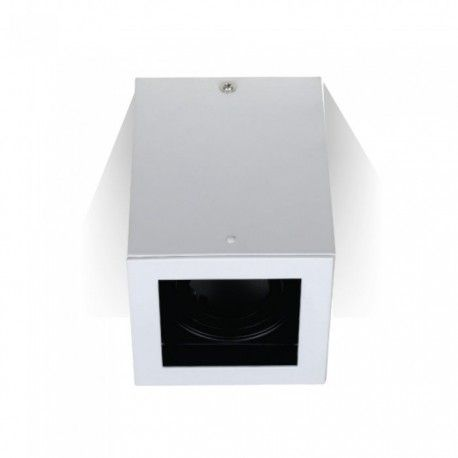 V-Tac takarmatur - Kvadrat, vit, IP20, GU10 sockel, utan ljuskälla
