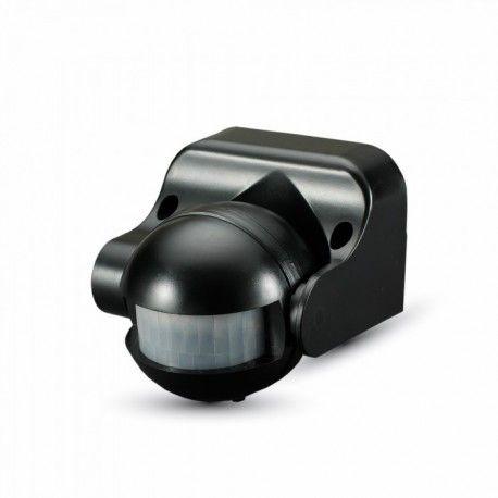 V-Tac rörelsesensor - LED venlig, svart, PIR infraröd, IP44 utomhusbruk