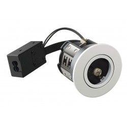 Badrum Downlights LEDlife Inno88 - MR16, matt vit, IP44, godkänd i isolering