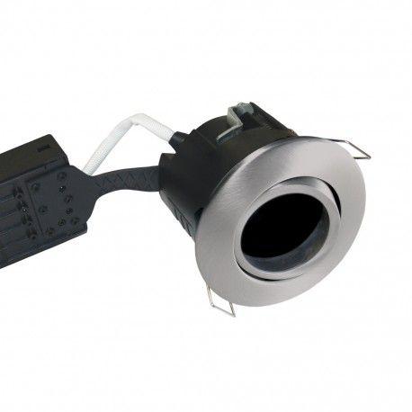 Nordtronic downlight - Borstad stål, IP44, utomhusbruk