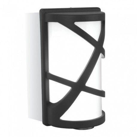 V-Tac svart vägglampa - IP54 utomhusbruk, E27 sockel, utan ljuskälla