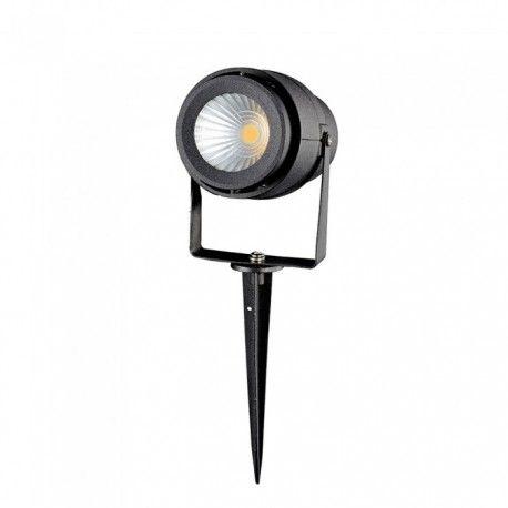 V-Tac 12W LED trädgårdarmatur - Svart, med spjut, IP65, 230V