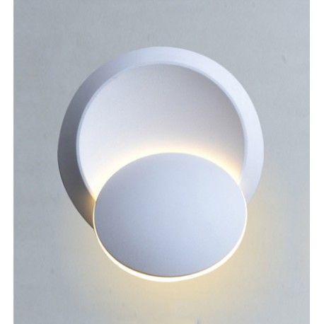 V-Tac 5W LED vit vägglampa - Rund, roterbar, IP20 inomhus, 230V, inkl. ljuskälla