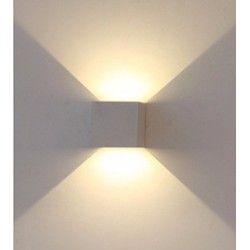 Vägglampor V-Tac 6W LED grå vägglampa - Kvadrat, justerbar spridning, IP65 utomhusbruk, 230V, inkl. ljuskälla