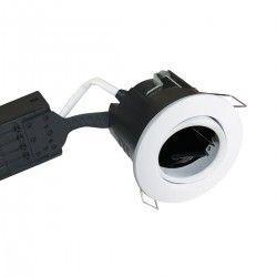 Badrum Downlights Nordtronic Uni Install downlight - Matt vit, IP44, godkänd i isolering