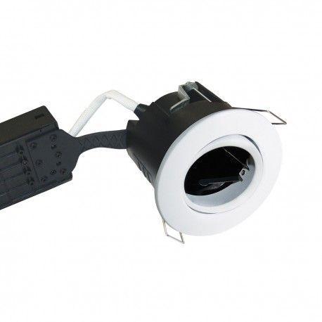 Nordtronic Uni Install downlight - Matt vit, IP44, godkänd i isolering