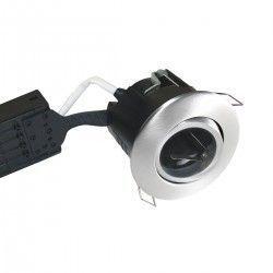 Badrum Downlights Nordtronic Uni Install downlight - Borstad alu, IP44, godkänd i isolering