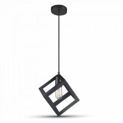 LED takpendel V-Tac geometrisk hängande armatur - Svart färg, kvadrat, E27