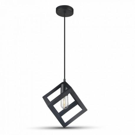 V-Tac geometrisk pendellampa - Svart färg, kub, E27