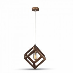 LED takpendel V-Tac geometrisk pendellampa - Champagne/guld färg, kub, E27