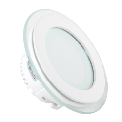 Downlights V-Tac 6W LED glas downlight - Hål: Ø7,5 cm, Mål: Ø10 cm, 230V