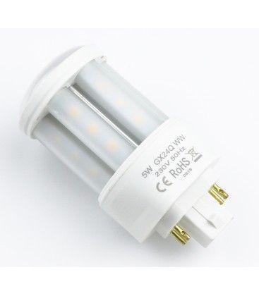 LEDlife GX24Q LED lampa - 5W, 360°, matt glas