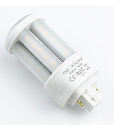 LEDlife GX24D LED lampa - 10W, 360°, matt glas