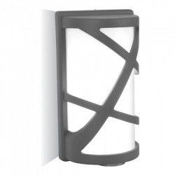 V-Tac grå vägglampa - IP54 utomhusbruk, E27 sockel, utan ljuskälla