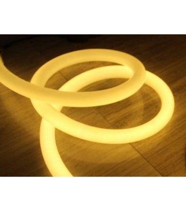 Varmvitt D16 Neon Flex LED - 8W per. meter, IP67, 230V