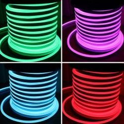 LED strip 8x16 Neon Flex LED - 18W per. meter, RGB, IP67, 230V
