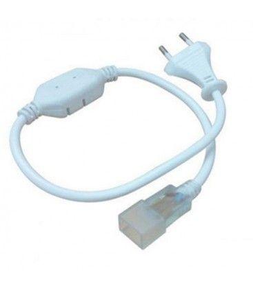 Kontakt till 8x16 Neon Flex LED - Inkl. ändstycke, IP67, 230V
