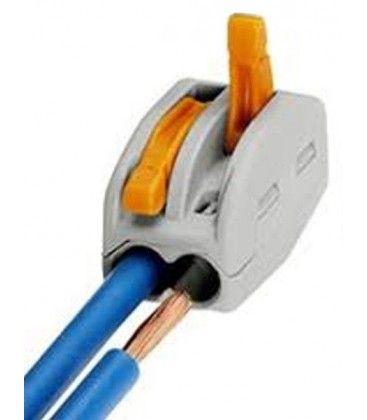 Skruvlös snabbkoppling till 2 ledningar