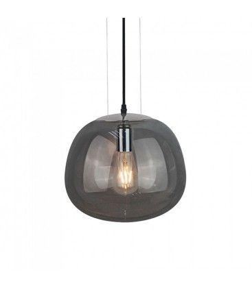 V-Tac glas pendellampa - gråfärgad, Ø30cm, E27