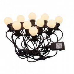 Ljusslingor V-Tac LED ljusslinga med 10 stk. 0,5W lampor - 5 meter, IP44, 230V, inkl. ljuskälla