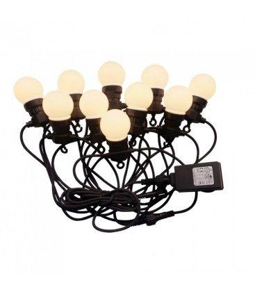 V-Tac LED ljusslinga med 20 stk. 0,5W lampor - 10 meter, IP44, 230V, inkl. ljuskälla