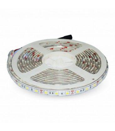 V-Tac 4,8W/m stänksäker LED strip - 5m, IP65, 30 LED per. meter
