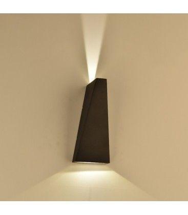 V-Tac 6W LED svart vägglampa - IP65 utomhusbruk, 230V, inkl. ljuskälla