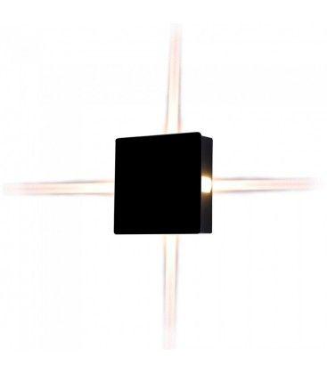 V-Tac 4W LED svart vägglampa - Kvadrat, IP65 utomhusbruk, 230V, inkl. ljuskälla
