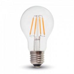 E27 vanliga LED V-Tac 6W LED lampa - Samsung LED chip, Filament, A60, E27