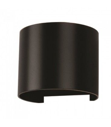 V-Tac 6W LED svart vägglampa - Rund, justerbar spridning, IP65 utomhusbruk, 230V, inkl. ljuskälla