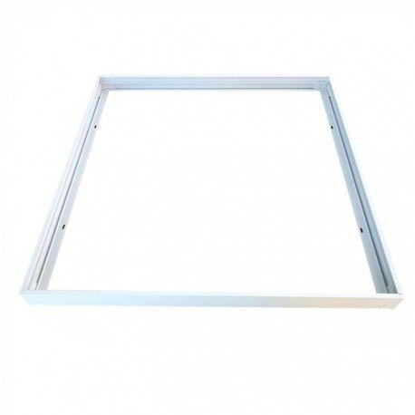 Ram till 60x60 LED panel - Snabb skruvlös kit, vit kant