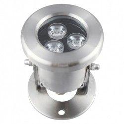 8W LED sjö/pool strålkastare - Varmvitt, IP68, 100% vattentät, Rostfritt, 12V