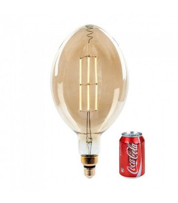V-Tac 8W LED jätte globlampa - Filament, Ø18 cm, dimbar, extra varmvitt, 2000K, E27