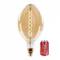 E27 Globe LED lampor V-Tac 8W LED jätte globlampa - Filament, Ø18 cm, dimbar, extra varmvitt, 2000K, E27