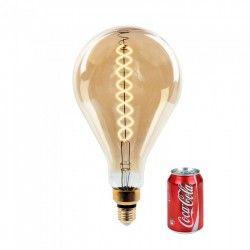 E27 LED V-Tac 8W LED jätte globlampa - Filament, Ø16 cm, dimbar, extra varmvitt, 2000K, E27