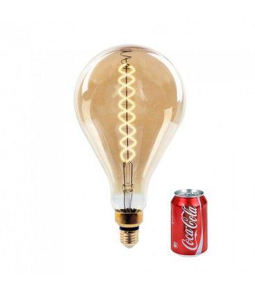 V-Tac 8W LED jätte globlampa - Filament, Ø16 cm, dimbar, extra varmvitt, 2000K, E27