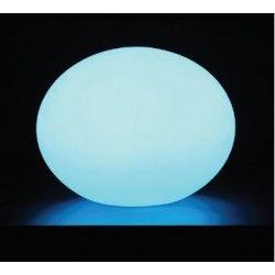Trädgårdslampor V-Tac RGB LED oval boll - Uppladdningsbart, med fjärrkontroll, Ø20 cm