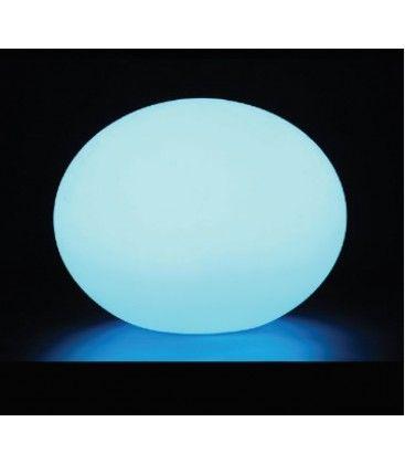 V-Tac RGB LED oval boll - Uppladdningsbart, med fjärrkontroll, Ø20 cm