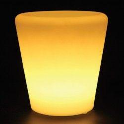 Trädgårdslampor V-Tac RGB LED blomkruka lock- Uppladdningsbart, med fjärrkontroll, 28x28x29 cm