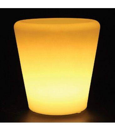 V-Tac RGB LED blomkruka lock- Uppladdningsbart, med fjärrkontroll, 28x28x29 cm