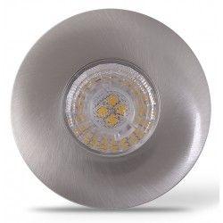 LEDlife Inno69 köksbelysning - Hål: Ø5,5 cm, Mål: Ø6,9 cm, RA95, borstad stål, 6V