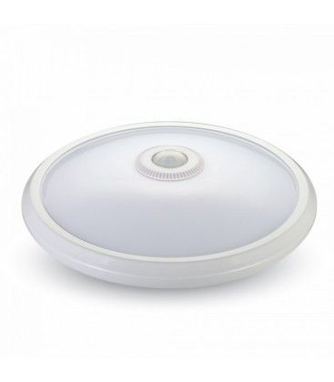 V-Tac 12W LED sensorarmatur - Samsung LED chip, PIR sensor, IP20 inomhus, 230V, inkl. ljuskälla