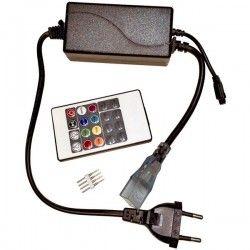 LED strip 8x16 RGB controller till Neon Flex LED - Inkl. ändstycke, Infraröd, 230V