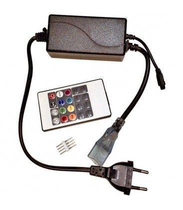 8x16 RGB controller till Neon Flex LED - Inkl. ändstycke, Infraröd, 230V