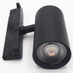 LEDlife svart skenaspotlight 28W - Flicker free, Citizen LED, RA90, 3-fas