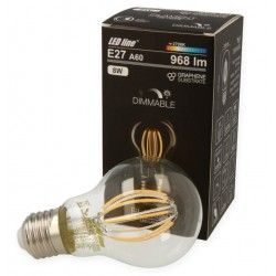 E27 LED 8W LED Lampa - Filament LED, Dimbar, E27, A60D
