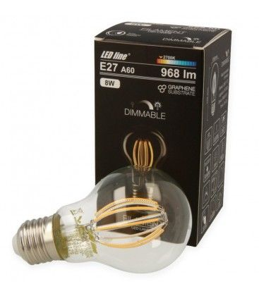 8W LED Lampa - Filament LED, E27, A60D