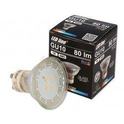 LED växtbelysning Grön LED spotlight - 1W, 230V, GU10