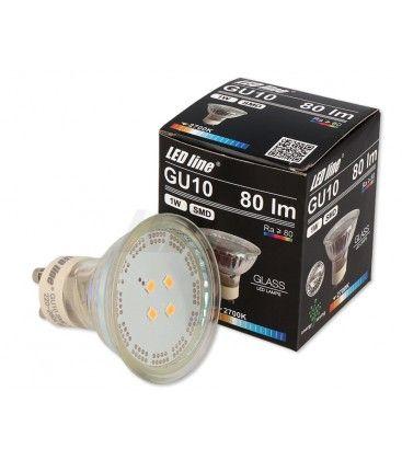 Grön LED spotlight - 1W, 230V, GU10